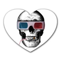 Cinema Skull Heart Mousepads