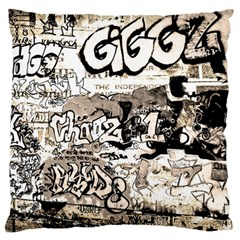 Graffiti Large Flano Cushion Case (one Side)