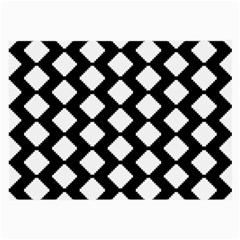 Abstract Tile Pattern Black White Triangle Plaid Large Glasses Cloth