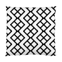 Abstract Tile Pattern Black White Triangle Plaid Chevron Standard Cushion Case (two Sides)