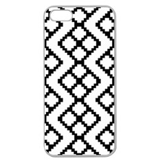 Abstract Tile Pattern Black White Triangle Plaid Chevron Apple Seamless Iphone 5 Case (clear)
