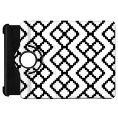 Abstract Tile Pattern Black White Triangle Plaid Chevron Kindle Fire Hd 7