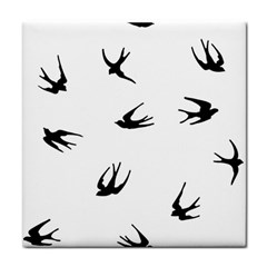 Black Bird Fly Sky Face Towel