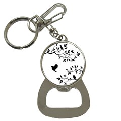Bird Tree Black Button Necklaces