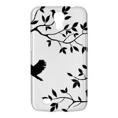 Bird Tree Black Samsung Galaxy Mega 6 3  I9200 Hardshell Case