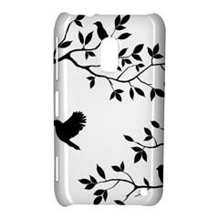 Bird Tree Black Nokia Lumia 620