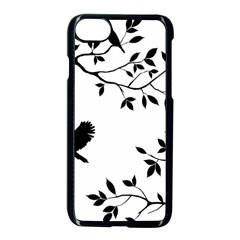 Bird Tree Black Apple Iphone 8 Seamless Case (black)