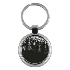 Christmas Angels Star Blue Key Chains (round)