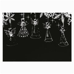 Christmas Angels Star Blue Large Glasses Cloth