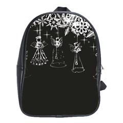 Christmas Angels Star Blue School Bag (large)