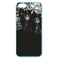 Christmas Angels Star Blue Apple Seamless Iphone 5 Case (color)