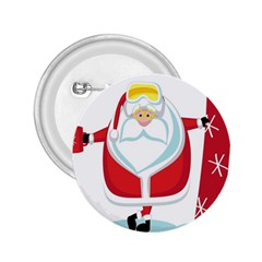 Christmas Santa Claus 2 25  Buttons