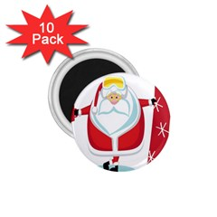Christmas Santa Claus 1 75  Magnets (10 Pack)