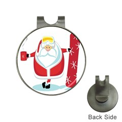 Christmas Santa Claus Hat Clips With Golf Markers