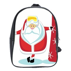 Christmas Santa Claus School Bag (xl)