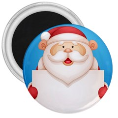Christmas Santa Claus Letter 3  Magnets