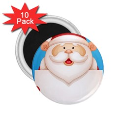 Christmas Santa Claus Letter 2 25  Magnets (10 Pack)