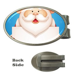 Christmas Santa Claus Letter Money Clips (oval)