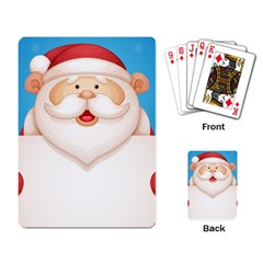 Christmas Santa Claus Letter Playing Card