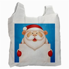 Christmas Santa Claus Letter Recycle Bag (two Side)