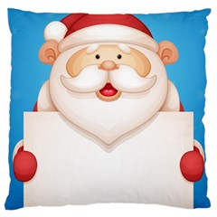 Christmas Santa Claus Letter Large Cushion Case (two Sides)