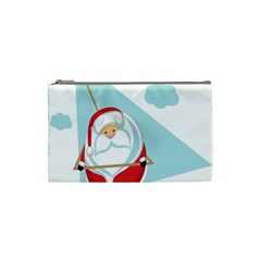 Christmas Santa Claus Paragliding Cosmetic Bag (small)