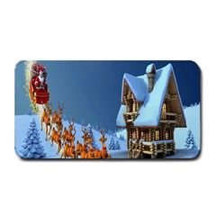 Christmas Reindeer Santa Claus Wooden Snow Medium Bar Mats