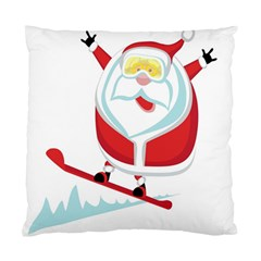 Christmas Santa Claus Playing Sky Snow Standard Cushion Case (one Side)