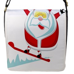Christmas Santa Claus Playing Sky Snow Flap Messenger Bag (s)