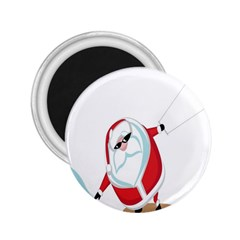 Christmas Santa Claus Snow Cool Sky 2 25  Magnets
