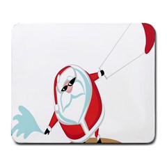 Christmas Santa Claus Snow Cool Sky Large Mousepads