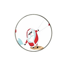 Christmas Santa Claus Snow Cool Sky Hat Clip Ball Marker (4 Pack)