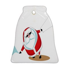 Christmas Santa Claus Snow Cool Sky Bell Ornament (two Sides)
