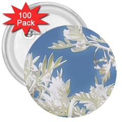 Nature Pattern 3  Buttons (100 Pack)