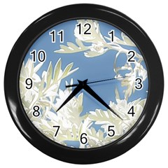 Nature Pattern Wall Clocks (black)