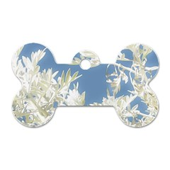 Nature Pattern Dog Tag Bone (one Side)