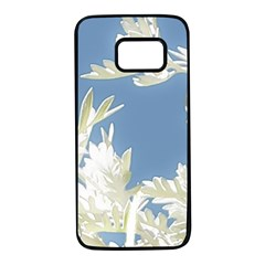 Nature Pattern Samsung Galaxy S7 Black Seamless Case