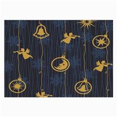 Christmas Angelsstar Yellow Blue Cool Large Glasses Cloth (2 Side)
