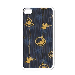 Christmas Angelsstar Yellow Blue Cool Apple Iphone 4 Case (white)