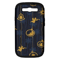 Christmas Angelsstar Yellow Blue Cool Samsung Galaxy S Iii Hardshell Case (pc+silicone)
