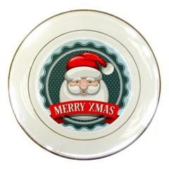 Christmas Santa Claus Xmas Porcelain Plates