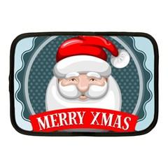 Christmas Santa Claus Xmas Netbook Case (medium)