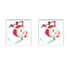Christmas Santa Claus Snow Sky Playing Cufflinks (square)