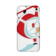 Christmas Santa Claus Snow Sky Playing Apple Iphone 6/6s Hardshell Case
