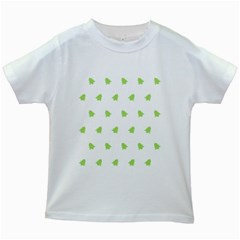 Christmas Tree Green Kids White T Shirts