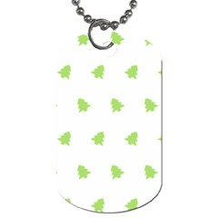 Christmas Tree Green Dog Tag (one Side)