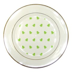 Christmas Tree Green Porcelain Plates