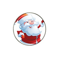 Christmas Santa Claus Snow Red White Hat Clip Ball Marker