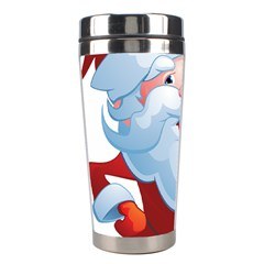 Christmas Santa Claus Snow Red White Stainless Steel Travel Tumblers