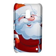 Christmas Santa Claus Snow Red White Nokia Lumia 620